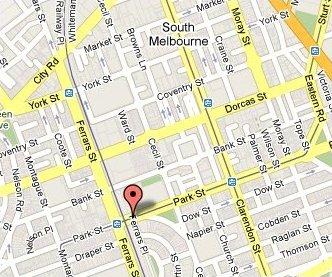 South Melbourne Community Centre Map