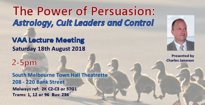 VAA Lecture Meeting August 2018