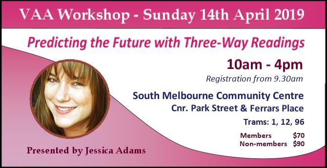 VAA Workshop with Jessica Adams - Sunday 14th April 2019